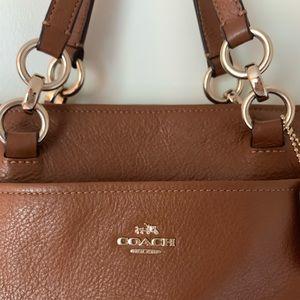 Coach Cognac Brown Leather Purse